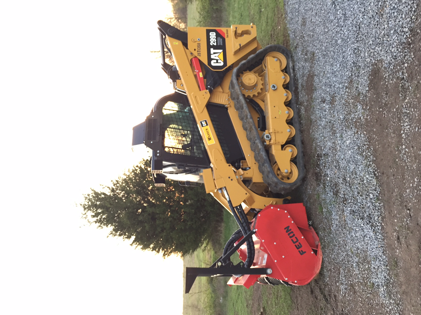 how to clear land with an excavator